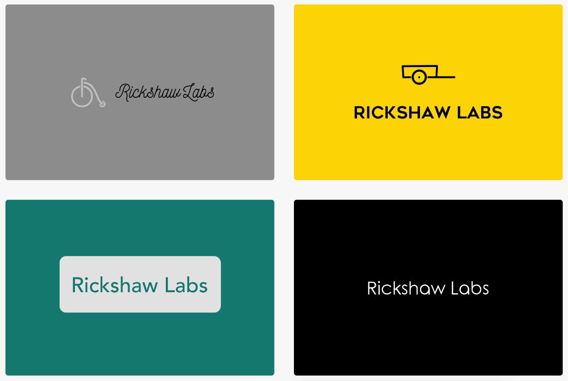 Logojoy logo samples Rickshaw Labs