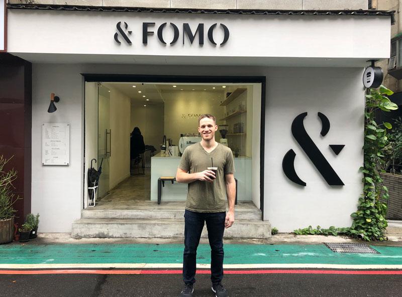Ryan Kulp at Fomo Cafe