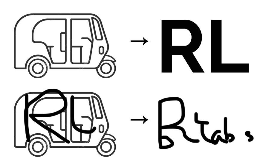Rickshaw Labs logo inspiration