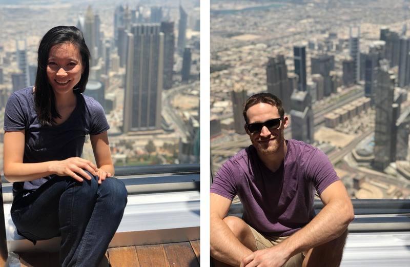 Ryan and Hideko at the Burj Khalifa