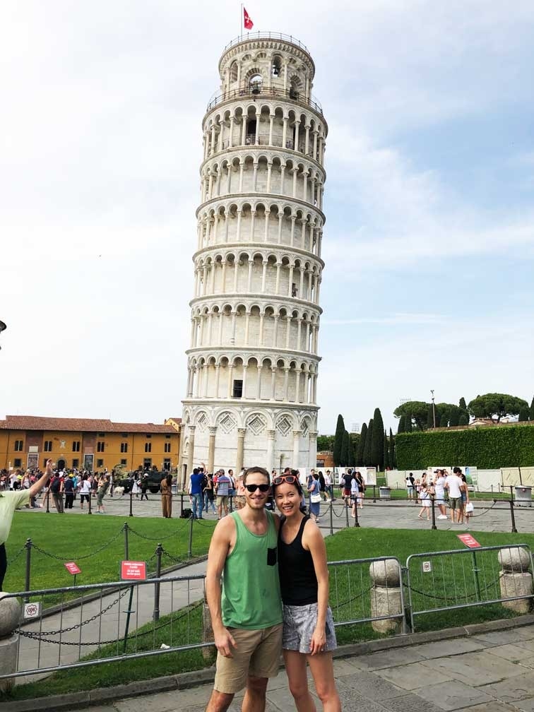 Hideko and Ryan in Pisa