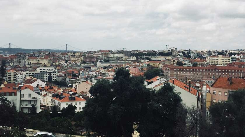 Lisbon, Portugal hills