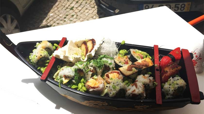 vegan Lisbon Legumi Sushi
